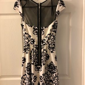 Black and White Formal Dress